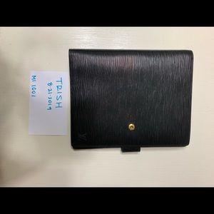 Louis Vuitton GM Epi Noir Agenda - gold hardware